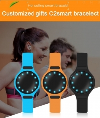 Bluetooth Waterproof Fitness Tracker Pedometer Monitor Smart Watch Wrist band Bracelet Tracker Orange length:9.45 inches