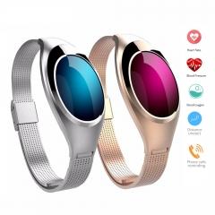 Fitness Tracker Watch,Z18 Women Smart Bracelet Intelligents Heart Rate Sleep Blood Pressure Monitor golden length:9.45 inches