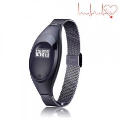 Fitness Tracker Watch,Z18 Women Smart Bracelet Intelligents Heart Rate Sleep Blood Pressure Monitor black length:9.45 inches