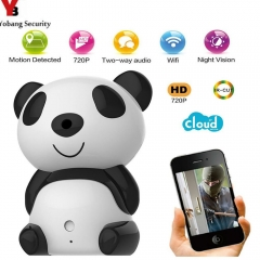 Security Cute Panda 720p HD Wireless Remote Surveillance IP Camera Wifi P2P Home security Cam c7824wip 720p