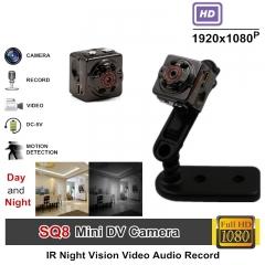 Full HD Video 1080p DVR Mini Camera Camcorder SQ8 Micro Cam Motion Detection Infrared Night Vision Ip camera UK Plug