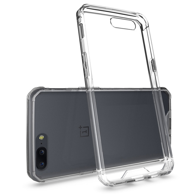 OnePlus 5 Case Transparent Anti-Shock Armour Case Soft TPU Anti-scratch For One Plus5 Case crystal clear oneplus 5 case