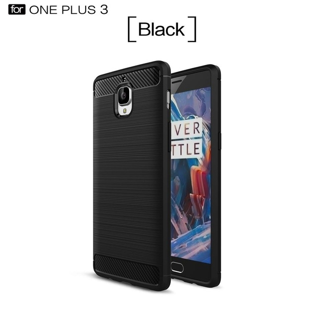 Oneplus 3 3T case Luxury 360 full cover for phone Brushed silicon TPU back cover black oneplus 3/3t case