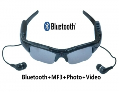 Bluetooth MP3 Player Photo video Sunglasses Mini DV Camcorder Outdoor Sport Mini Camera Glasses spy camera Sunglasses