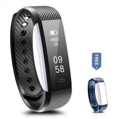 Fitness Tracker Bluetooth Wristband Pedometer Smart Watch Sleep Monitor, Waterproof Activity Tracker Black Black