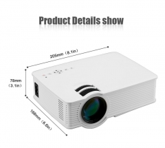GP-9 HD WIFI Home Mini Portable LED Projector Multimedia Player Wireless Support USB SD HDMI AV White Not Include HDMI Cable
