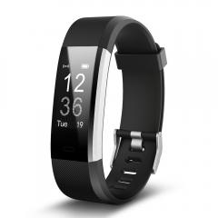 ID115 HR Plus Smart Wristband Heart Rate Monitor Fitness tracker Smartband Bracelet Wrist Band Phone black ID115 HR Plus