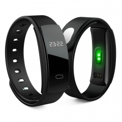 Heart Rate Monitor Smart Band Blood Pressure Monitor Wristband Fitness Tracker Bracelet IOS Android black QS80