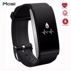 Smart Band Bracelet Blood Pressure Watch Heart Rate Sport Wristband Waterproof Fitness Tracker black smartwatch