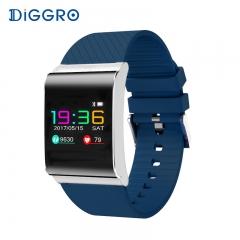 Smart Bracelet Band Color OLED Blood Pressure Oxygen Monitor Heart Rate Fitness Tracker Wristbands blue smartwatch
