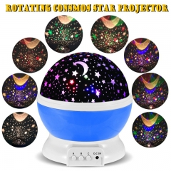 Romantic Rotating Star Moon Sky Night Projector Light Lamp Projection high quality Kids Bed Lamp blue 13cm x 13cm x 14.5cm 5w