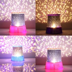 LED Starry Projector Lamp Moon Colorful Master Star Sky Universal Night Light Children Projector Random color 13cm x 13cm x 14.5cm 5w
