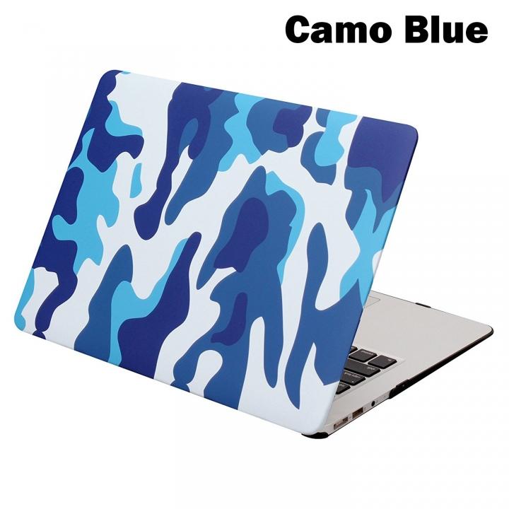 "MacBook Case, Plastic Hard Case for Apple Macbook 12""/Air 11""/ 13""/Pro 13""/15/Pro Retina 13""/15"" Camo Blue macbook pro13"