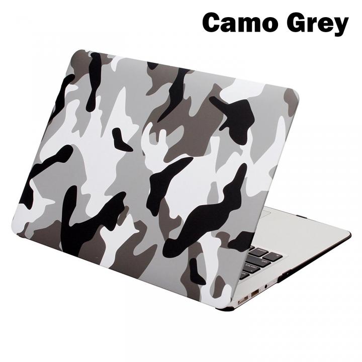 "MacBook Case, Plastic Hard Case for Apple Macbook 12""/Air 11""/ 13""/Pro 13""/15/Pro Retina 13""/15"" Camo Grey macbook pro13"