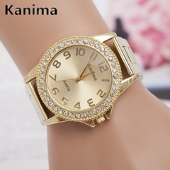 Lovers Quartz Watches Women Men Gold Wrist Watches Top Brand Luxury Female Male Clock Golden Watch designer1 one size