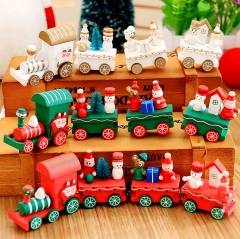 Christmas Decorations Christmas Small Train Children Kindergarten Festive Christmas Gifts Ornaments style1 white christmas gifts