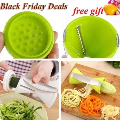 Fruit Spiral Shred Process Cutter Slicer Peeler Kitchen Tool  spirelli spiralizer julienne cutter