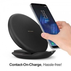 Fast Charge Wireless Charging Pad Foldable Stand for iPhone Samsung Galaxy Note 5 S6/S7/S8/iPhoneX/8 Black One Size