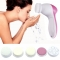 Electric Wash Face Machine Facial Pore Cleaner Body Cleaning Massage Mini Skin Beauty Massager Brush white one size