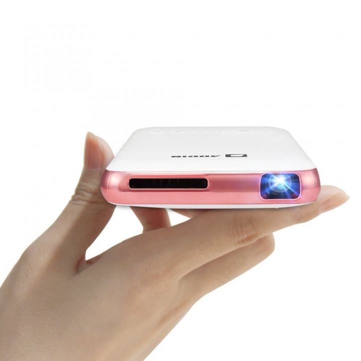 Portable Mini Projector with HDMI Input Wireless Wifi Bluetooth 1080P Pocket Projector Pink-HDMI Input one size