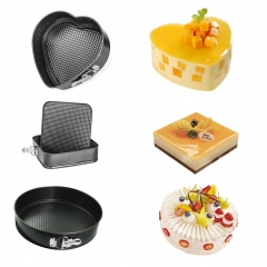 Cake Mold 3 Sets Non-stick Round Heart Bake Mould Bakeware Pastry Tools Baking Tools random colour 3 sets