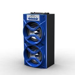 Ms-147Bt Portable LED Light Outdoor Bluetooth Wireless Super Bass Speaker blue 8W bluetooth