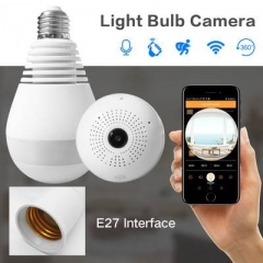 360 Degree Fisheye Panoramic IP Camera APP Remote View Spy Camera LED Bulb Wireless Baby Camera