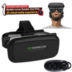 VR SHINECON 3D Virtual Reality Head-Mounted 3D VR Video Glasses for 4.7 - 6.0 inch Smartphone Black Black One Size 4.7 - 6.0 inch