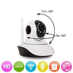 Wireless Security Camera WiFi IP Camera HD 720P Motion Detection Alarm Nigh Temperature Hum Sensor