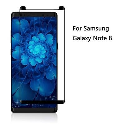 Galaxy Note 8 Screen Protector 9H Hardness 3D Curved Full Coverage Tempered Glass Screen Protector black Note 8