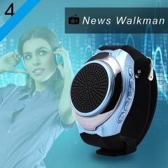 Upgrade Fashion Portable Wireless Bluetooth Speaker Watch,fitness tracker Bracelet black one size