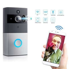 Wireless Wi-Fi Video Doorbell Cam, 720P HD Security Camera, Night Vision, IOS/ Android video door bell Camera(no include TF