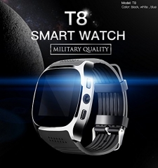 Bluetooth Smart Watch,With Camera For Android Samsung INFINIX OWWO TECNO black T8 one size
