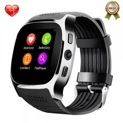 T8 Heart Rate Blood Pressure Monitor Bluetooth Smart Watch,Fitness Tracker Men Women Smart Watch black Heart Rate Monitor