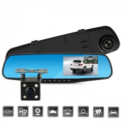Car DVR Dual Lens Car Camera Full HD 1080P Video Recorder Rearview Mirror With Rear view DVR cam