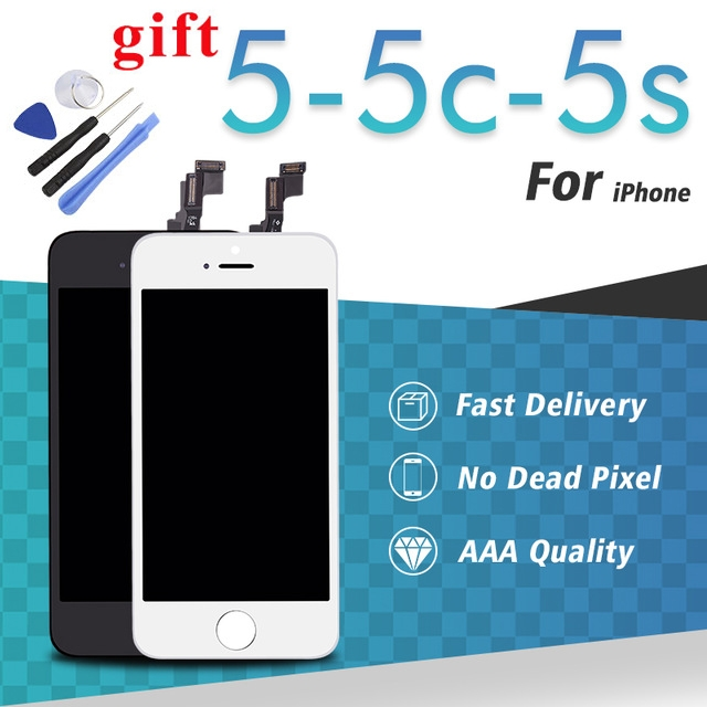 iPhone 5C 5S 5 LCD Display Touch Full Screen Touch Glass Digitizer Assembly Replacement for iPhone black iPhone 5