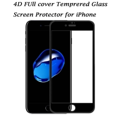 iPhone X/8/8 Plus 7/7 Plus 6/6s/6 Plus/6s Plus Screen Protector, 4D Full Coverage Tempered Glass black iphone 6