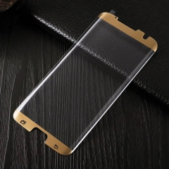 Samsung Galaxy S7 Edge Screen Protector, 9H HD 3D Curved Tempered Glass Screen Protector gold Galaxy s7 edge