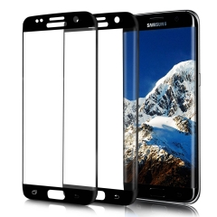 Samsung Galaxy S7/S7 Edge/S6Edge/S6 Edge+ Screen Protector, Tempered Glass//3D Full Coverage black galaxy s6 edge plus