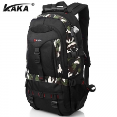 Multifunctional Mountain Men Macbook Laptop School Backpack Large Capacity Male Travel Luggage Bag black One Size