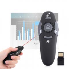 Wireless Presenter Laser Pointers Pen 2.4G RF PPT Presentation Remote Control Red Light USB Flip Pen black one size