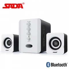 Bluetooth Wired Speaker Subwoofer 3D Surround Stereo Bass PC Speaker TF Card for Smartphone Computer black