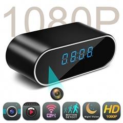 Hidden Spy Camera in Clock WiFi hidden Cameras 1080P Video Recorder Wireless IP Camera for Security black one size