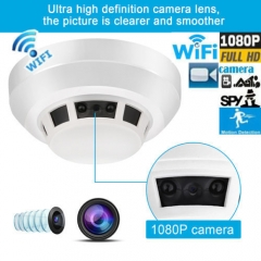 Full HD 1080P Spy Hidden Camera DVR WIFI Smoke Detector Security Night Vision white one size