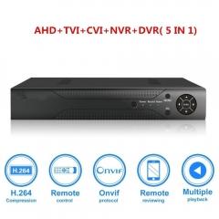 8CH 1080N CCTV DVR Hybrid 5-in-1 H.264 Video Record DVR NVR AHD TVI CVI Analog black one size