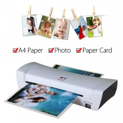 A4 Hot and Cold Laminating Machine Document Photo Paper Cards Picture Painting Laminator for Office white one size