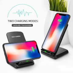 For Samsung S9 S8 mix2s iPhone X 8 Qi Wireless Charger Fast Charging Holder  Phone Fast Charger black one size