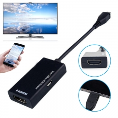 Micro USB to HDMI Male to Female High Speed HDTV Adapter Converter Cable for Phone for Mobile Phone black one size