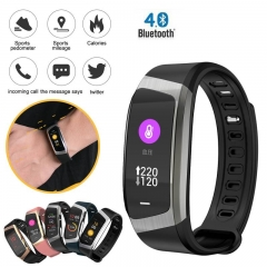 Bluetooth Waterproof Smart Watch Heart Rate Monitor Sport Smartwatch For Android IOS black one size