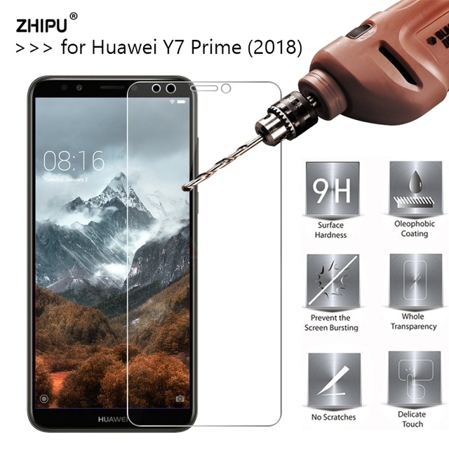 2.5D 9H Premium Tempered Glass For Huawei Y7 Prime (2018) Screen Protector transparent Y7 Prime 2018